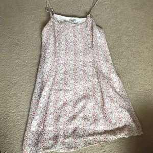 Urban Outfitters Pink Floral Fitted Dress Small